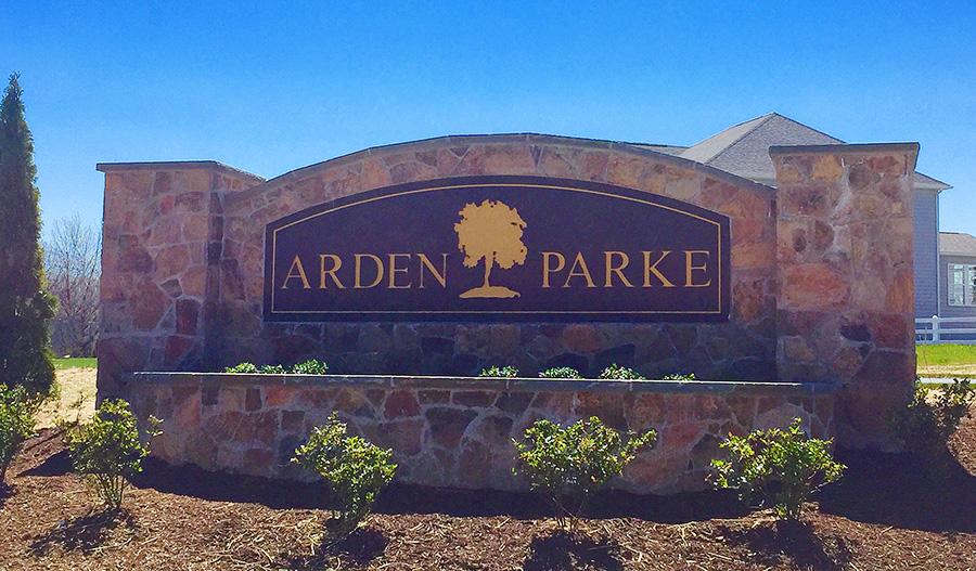 Entrance to the Arden Parke community near Baltimore