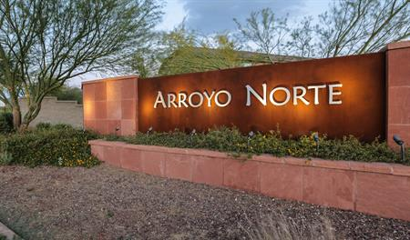 Entrance to the Arroyo Norte community in Phoenix
