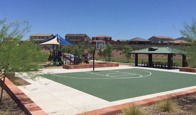 Basketball court at the Arroyo Norte community in Phoenix