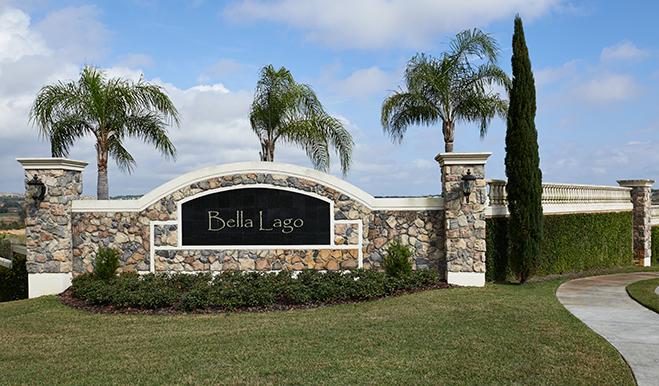 Entrance to the Bella Lago community in Orlando