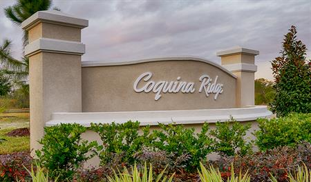 Entrance to the Coquina Ridge community in Jacksonville