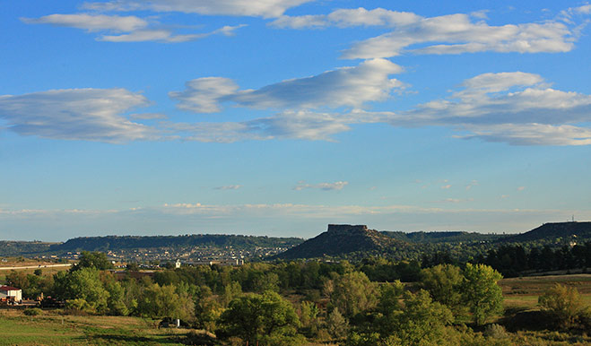 Crystal Valley - Mesa Backdrop