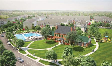 New homes at the Eastchurch community in Maryland