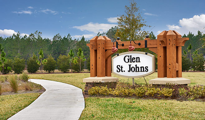 Entrance to the Glen St. Johns community in Jacksonville