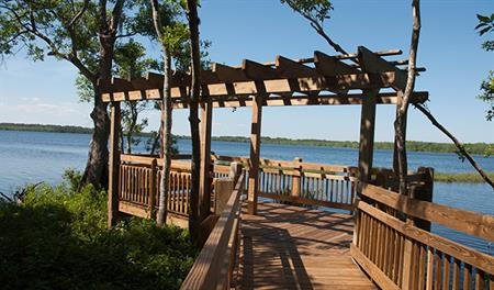Dock on the lake in Harmony near Orlando