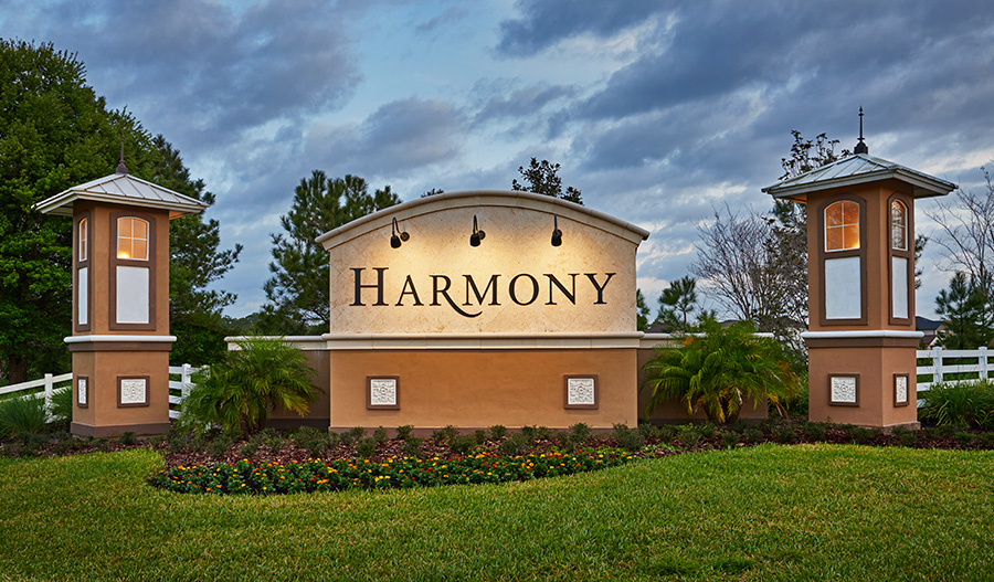 Entrance to The Sanctuary at Harmony in Orlando