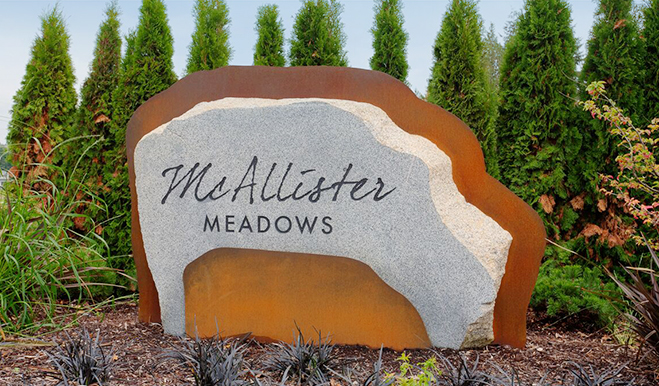 McAllister Meadows - Entrance