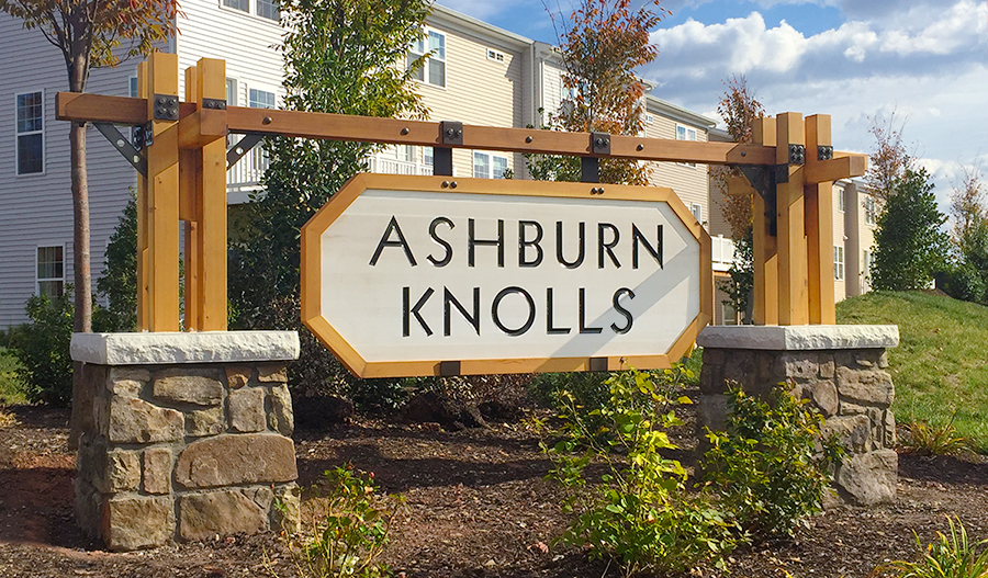 Entrance of the Ashbury Knolls community in Northern Virginia
