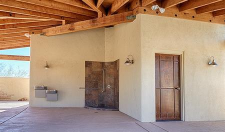 Pool house in the Starr Ridge community
