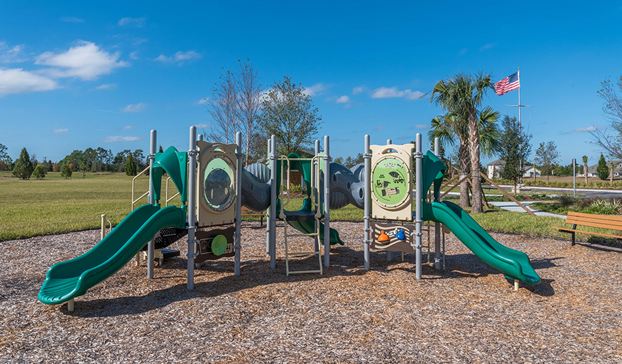 Community playground at Gran Lake in Jacksonville