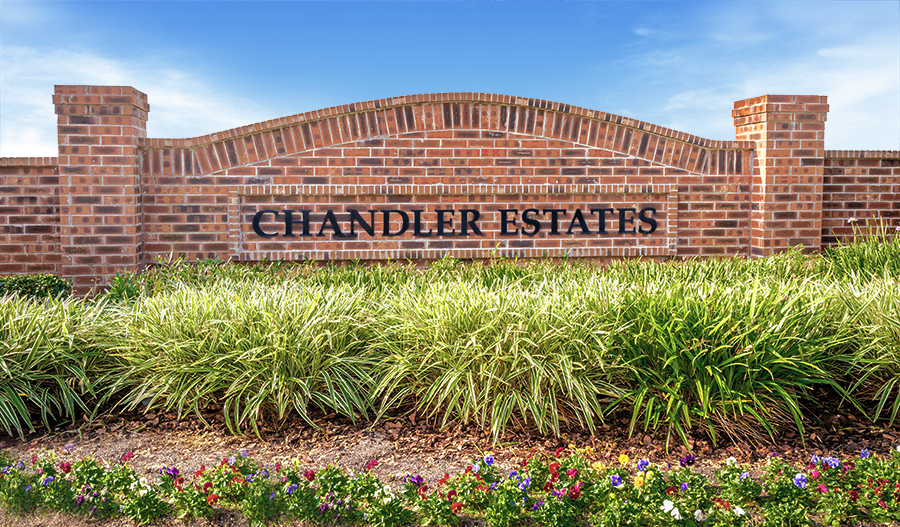 Entrance to the Chandler Estates community in Orlando