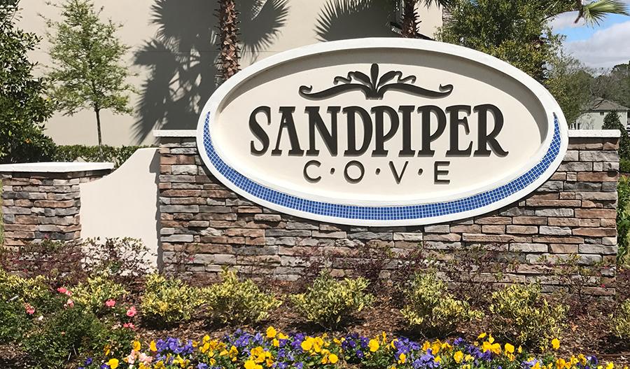 Entrance to Sandpiper Cove in Jacksonville FL