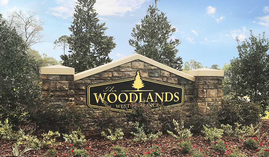 Entrance to The Woodlands community in Jacksonville
