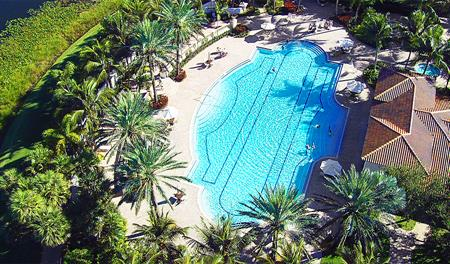 Community pool at The Oaks at Boca Raton in south Florida