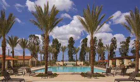 Community pool at Avila at Eastwood Village in Irvine