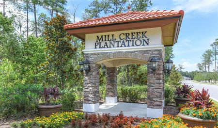 Entrance to the Lakes at Mill Creek community in Jacksonville