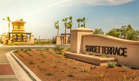 Entrance to the Sunset Terrace community in Phoenix