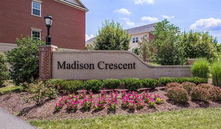 Entrance to the Madison Crescent community in Northern Virginia
