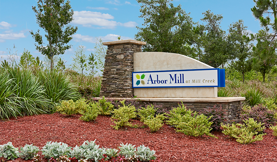 Entrance to the Arbor Mill at Mill Creek community in St. Augustine