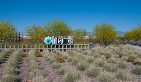 Entrance to the La Estancia community in Tucson