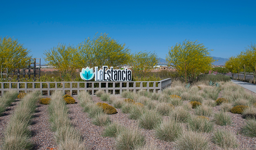 Entrance to the La Estancia community in Tucson