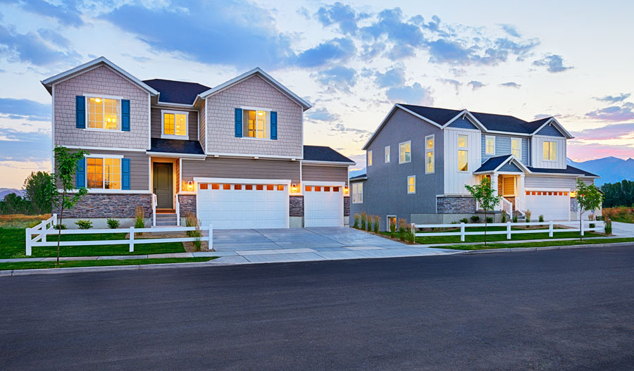 New homes at Newman Ranch in Salt Lake City