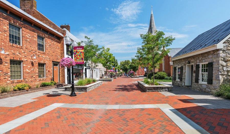 Town center in Northern Virginia