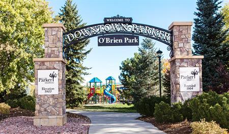 O'Brien Park entrance in Parker, CO
