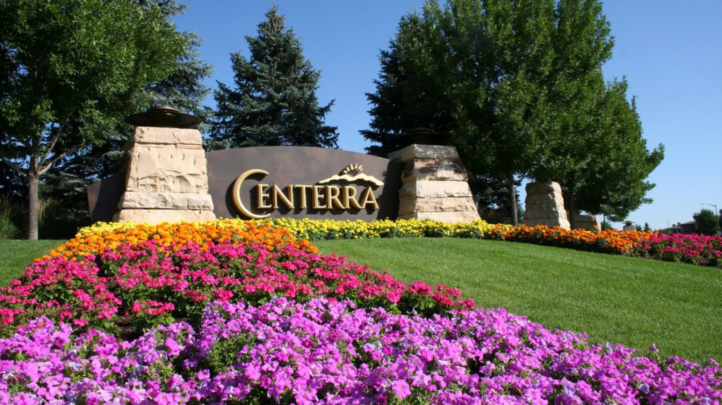 Entrance to The Lakes at Centerra in Northern Colorado