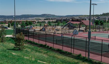 Tennis courts at Cityscapes at the Meadows in Denver