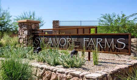 Entrance to the Sycamore Farms community in Phoenix