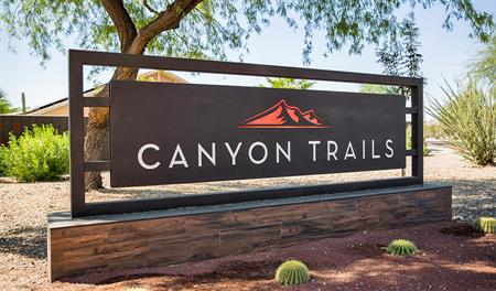 Entrance to the Canyon Trails community in Phoenix