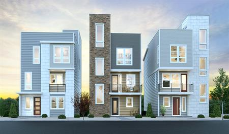 New homes at Cityscapes at the Meadows in Denver