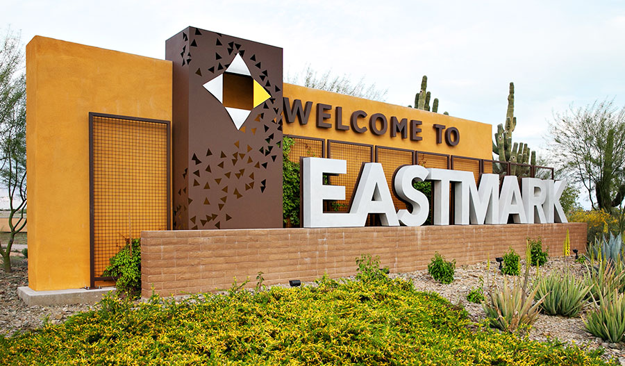 Entrance to Estates at Eastmark housing community in Phoenix