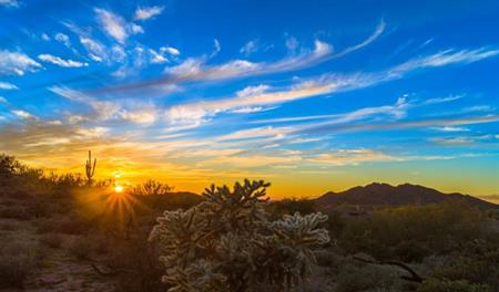 Sunrise at Canyon Ridge Estates in Phoenix