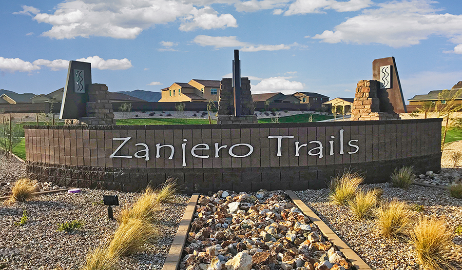 Entrance to Zanjero Trails in Phoenix