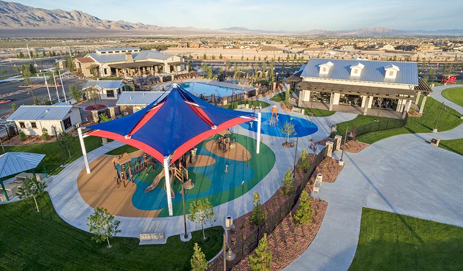 Playground at the Skye Canyon masterplan in Las Vegas