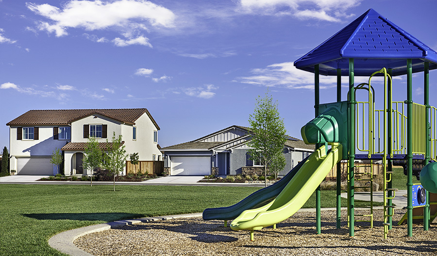 Community park at Greenview at Evans Estates in Northern California