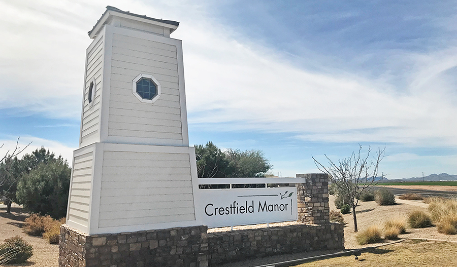 Entrance to Crestfield Manor in Phoenix
