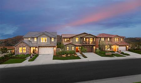 New homes at Promontory at Horse Creek Ridge in southern California