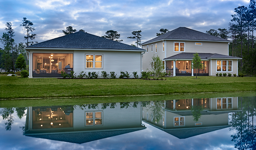 New homes at Lakes at Mill Creek in Jacksonville