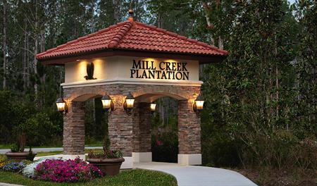 Entrance to Lakes at Mill Creek in Jacksonville