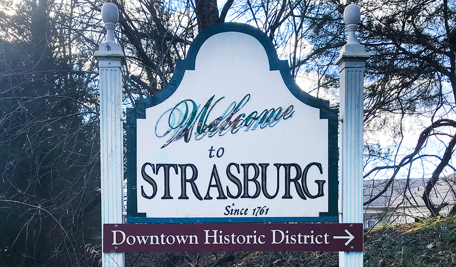 Welcome to Strasburg Sign