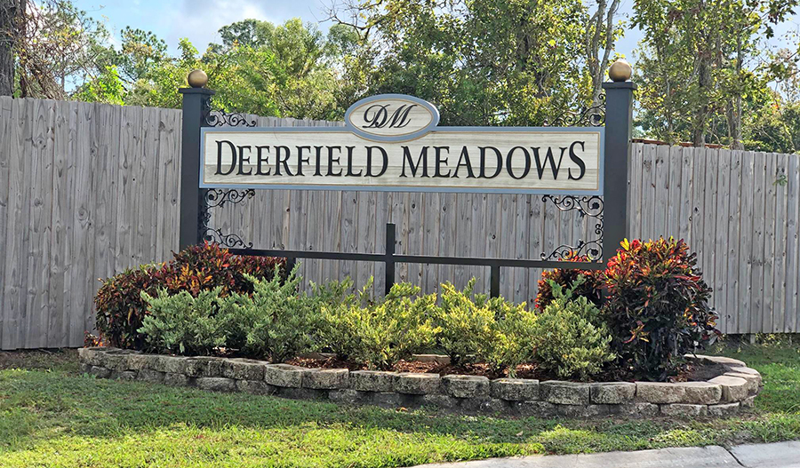 Monument for Deerfield Meadows