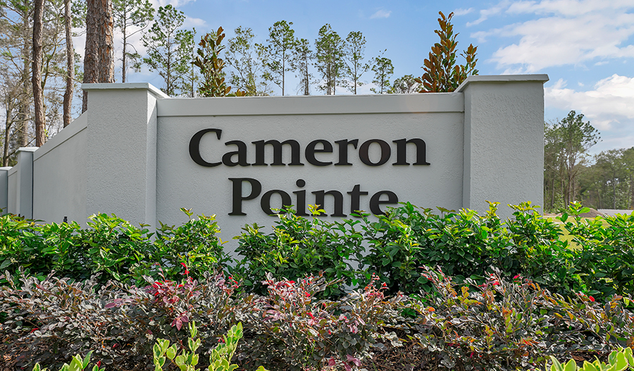 Monument of Cameron Pointe in JAX