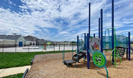 Playground and pool of New Post in VA