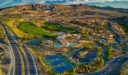 Aerial photo of Lake Las Vegas
