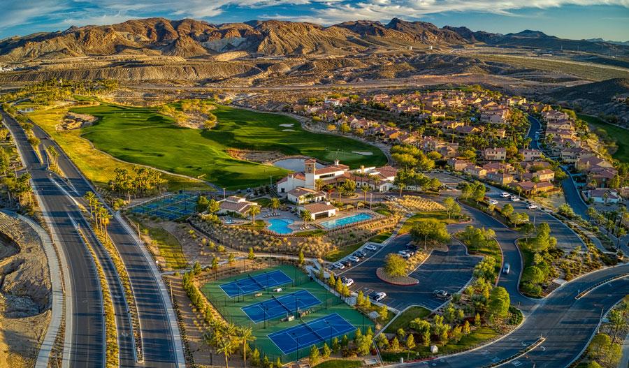 Aerial photo of Lake Las Vegas