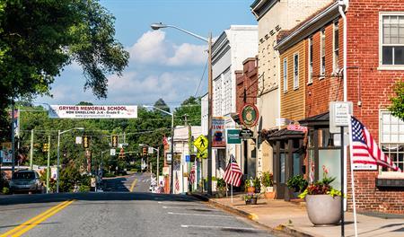 Stock photo of Virginia town