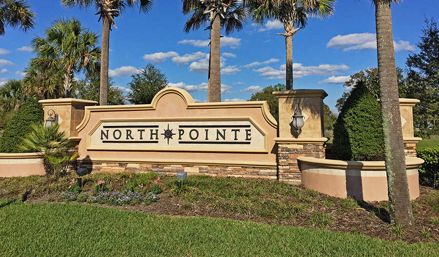 Entrance to the North Pointe community in Orlando